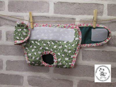 the posh dog clothing company pants green sheep green 04