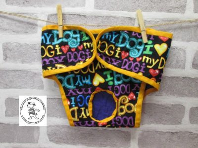 the posh dog clothing company pants love dog purple 01