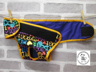 the posh dog clothing company pants love dog purple 03
