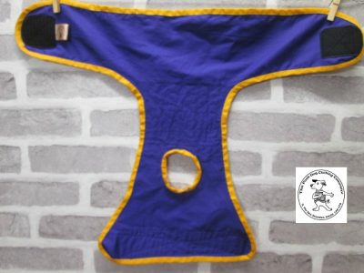the posh dog clothing company pants love dog purple 04
