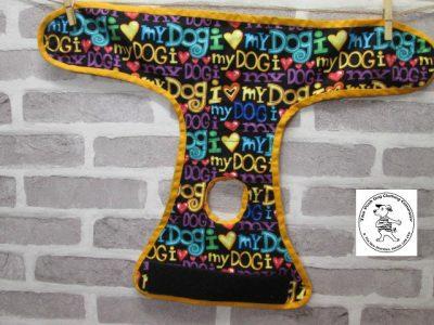 the posh dog clothing company pants love dog purple 05