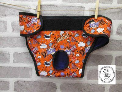 the posh dog clothing company pants orange super hero purple 02