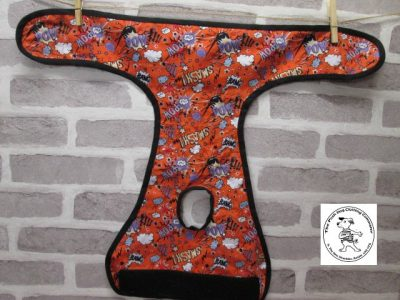 the posh dog clothing company pants orange super hero purple 04
