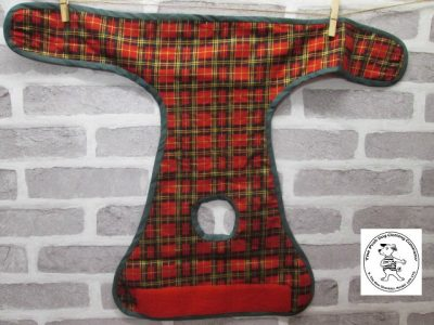 the posh dog clothing company pants red tartan red 05