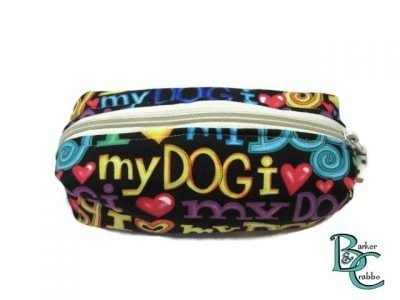 Barker and crabbe long pencil case love dogs yellow 2