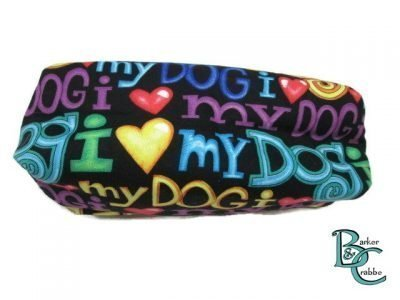 Barker and crabbe long pencil case love dogs yellow 4