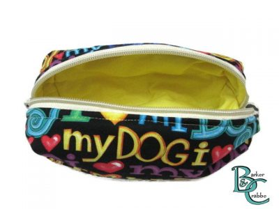 Barker and crabbe long pencil case love dogs yellow 6