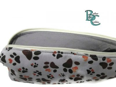 barker and crabbe totes extraordinaire box pencil case pawprints grey 02