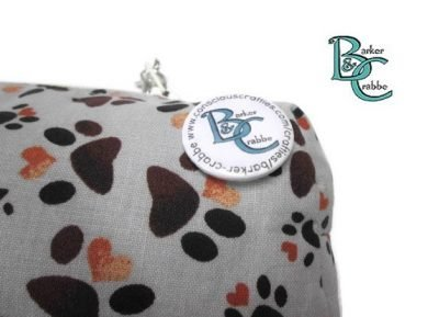 barker and crabbe totes extraordinaire box pencil case pawprints grey 05