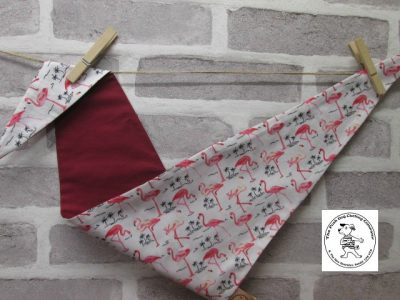 the posh dog clothing company bandannas flamingo red 4