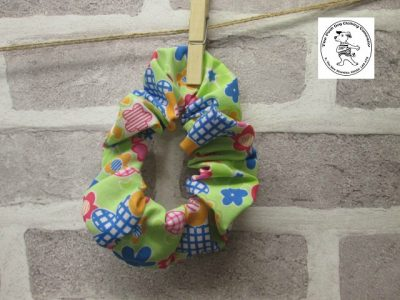 the posh dog clothing company walkies scrunchy bright green 1