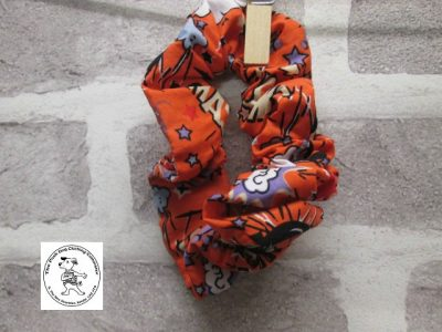 the posh dog clothing company walkies scrunchy orange super hero 1