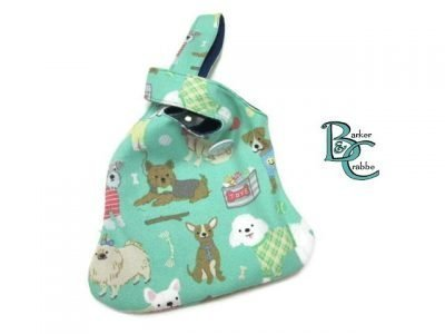 barker and crabbe japanese loop bag green dogs navy 03
