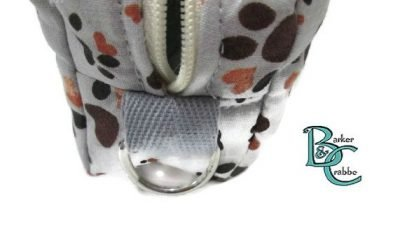 barker and crabbe totes extraordinaire box pencil case pawprints grey 06