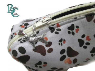 barker and crabbe totes extraordinaire box pencil case pawprints grey 07