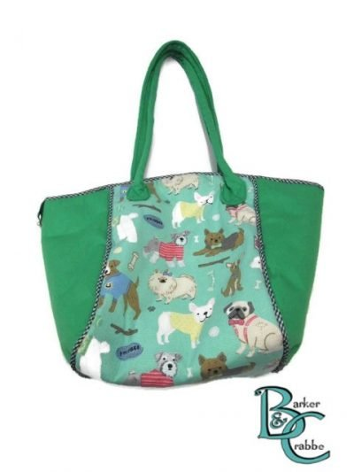 posh dog for you barker crabbe basket tote green dogs green 1