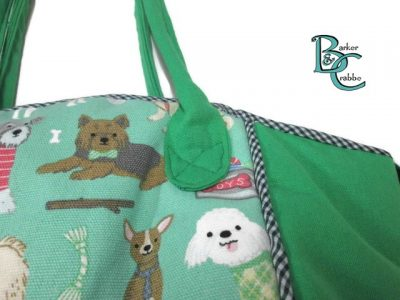 posh dog for you barker crabbe basket tote green dogs green 2