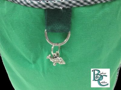 posh dog for you barker crabbe basket tote green dogs green 3