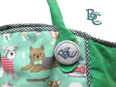 posh dog for you barker crabbe basket tote green dogs green 8
