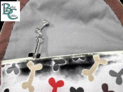 purse with oval flap bones grey 03