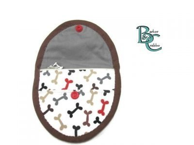 purse with oval flap bones grey 06