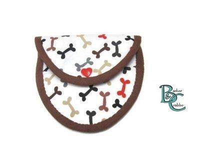 purse with oval flap bones grey 07