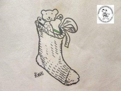 the posh dog clothing company icon tote shopper christmas stocking 2