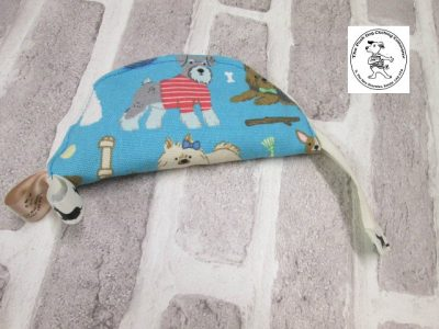 the posh dog clothing company walkies collection water bowl blue dogs 1