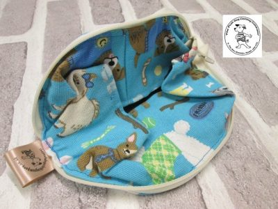 the posh dog clothing company walkies collection water bowl blue dogs 5