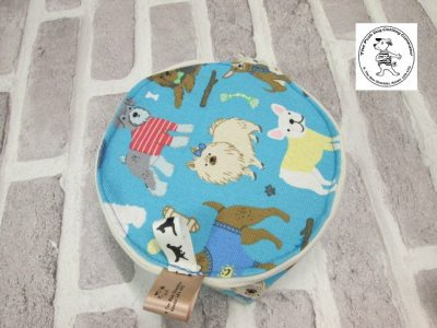 the posh dog clothing company walkies collection water bowl blue dogs 8
