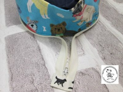 the posh dog clothing company walkies collection water bowl blue dogs 9