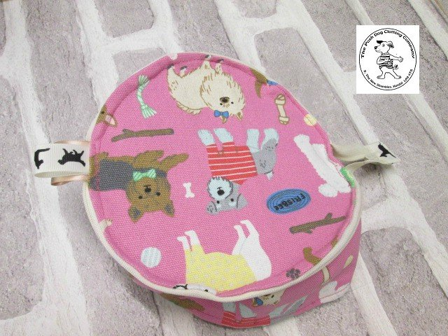 the posh dog clothing company walkies collection water bowl pink dogs 6