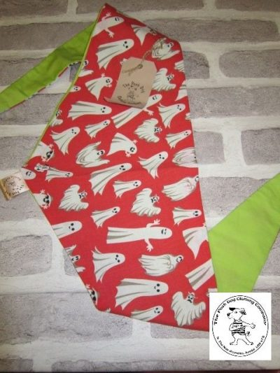 the posh dog clothing company halloween ghosts red green 1