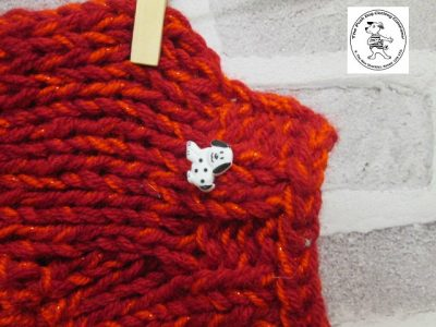 the posh dog clothing company knitted jumper weekender red sparkle 3