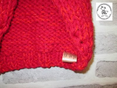 the posh dog clothing company knitted jumper weekender red sparkle 5