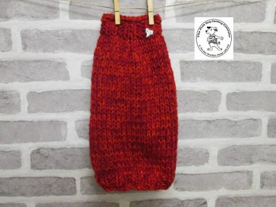 the posh dog clothing company knitted jumper weekender red sparkle 6