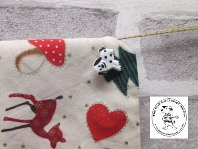 the posh dog clothing company Christmas bandannas small bambi and heart red 4