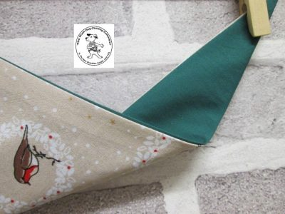 the posh dog clothing company bandannas christmas robin green 2