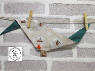 the posh dog clothing company bandannas christmas robin green 3