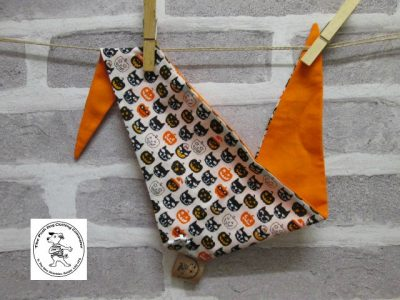 the posh dog clothing company halloween bandanna cats orange a1