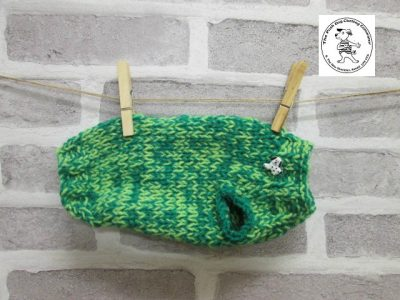 the posh dog clothing company knitted jumper weekender bright greens 1