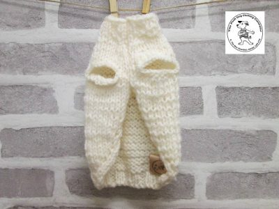the posh dog clothing company knitted jumper weekender cream 4