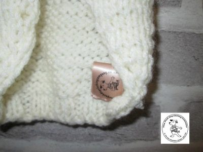 the posh dog clothing company knitted jumper weekender cream 5