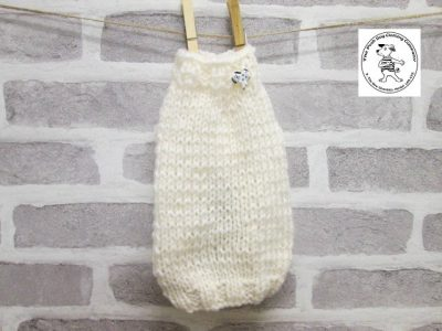 the posh dog clothing company knitted jumper weekender cream 6