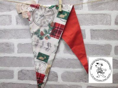 the posh dog clothing company Christmas bandannas med London red 1
