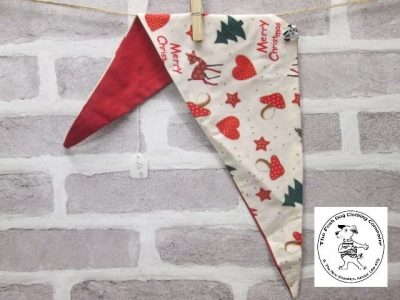 the posh dog clothing company Christmas bandannas small bambi and heart red 1