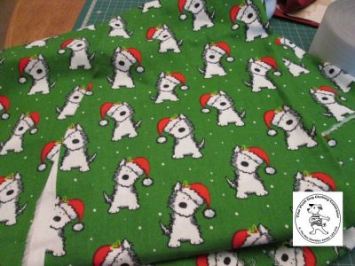 the posh dog clothing company abric christmas weaties green
