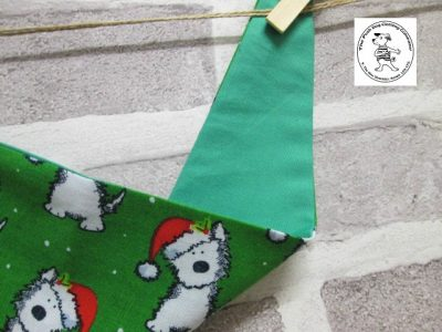 the posh dog clothing company bandanna christmas geeen weatie green 2