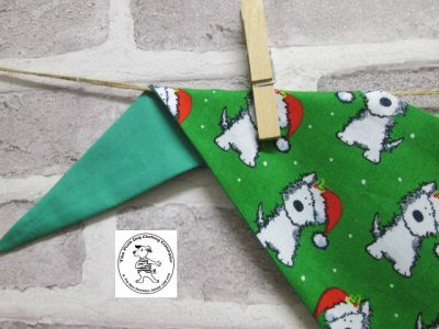 the posh dog clothing company bandanna christmas geeen weatie green 3