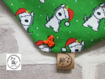 the posh dog clothing company bandanna christmas geeen weatie green 4